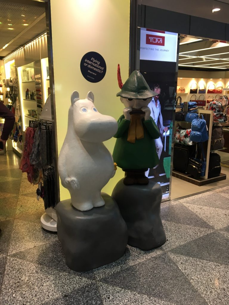 Visiting Finland also means meeting some famous cartoon characters